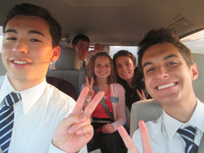 Driving to Zone Conference with the AP's.