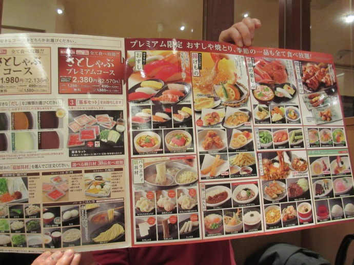 An all you can eat restaurant where you can order anything off the menu.